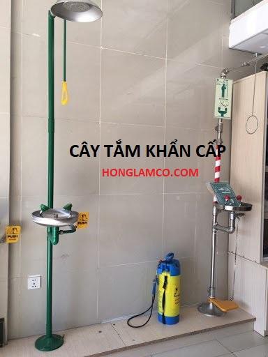 Cây tắm khẩn cấp kết hợp bồn rửa